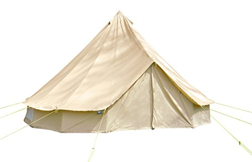 6m Bell Tent w Zipped Groundsheet. 100% Cotton. Large Family or Community Tent. Bell Tent for camping. Bell Tent for the garden. Excellent Value.