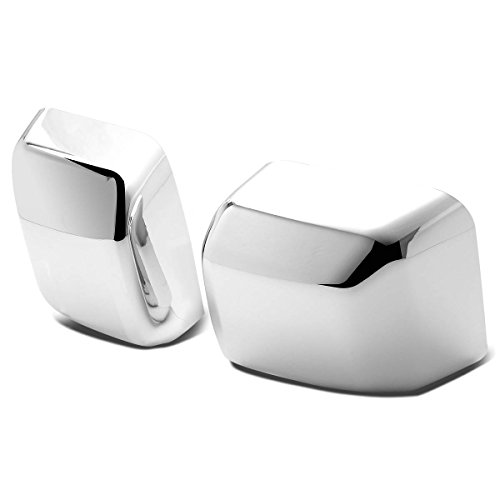 For Jeep Wrangler JK Pair of Exterior Side Door Mirror Covers (Chrome) (Covers Mirror Jeep Chrome Wrangler)