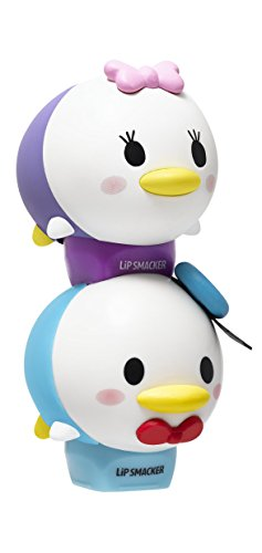 Lip Smacker Disney Tsum Tsum Lip Balm Duo, Donald Jelly Quakers/Daisy Glamorous Cotton Candy, 2 Count (2 Pack Daisy)