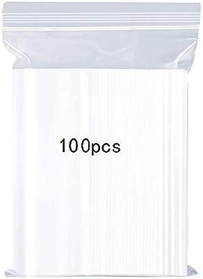 Bolsas de plástico Transparentes Que se Pueden Volver a sellar, Bolsa de Cierre de Cremallera Reutilizable Fuerte, Engrosamiento y Duradero, presionar ...
