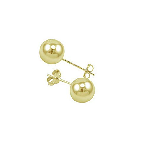 Waldenn 14k Gold Filled Polish Classic Ball Stud Earrings -Choose Your Size | Model ERRNGS - 13210 | 7mm