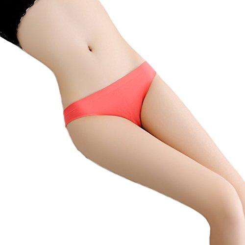 Hosaire 3 Piezas Cintura de encaje calzoncillos bragas tangas tanga ropa interior ropa interior bajo las mujeres ropa interior del telar jacquar Rojo 2
