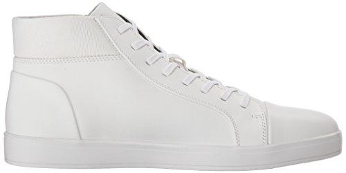 Calvin Klein Mænds Balthazar Børstet Saffiano Smth Sneaker Hvid 4kYyWX5Hce