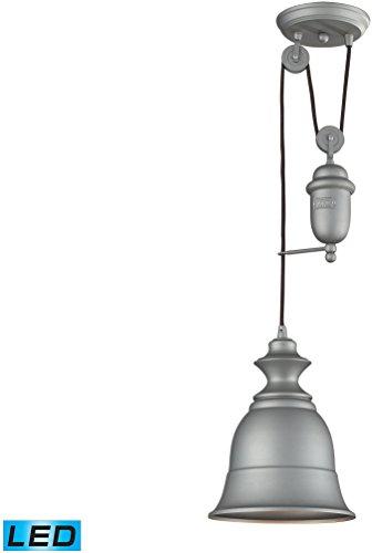 ELK 65080-1-LED, Farmhouse Large Cone Pendant, 1 Light LED, Aged Pewter