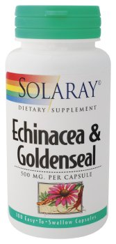 Solaray - Echinacea & Goldenseal, 500 mg, 100 capsules