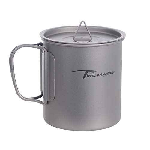 Timberbrother 450ml Titanium Cup with Lid