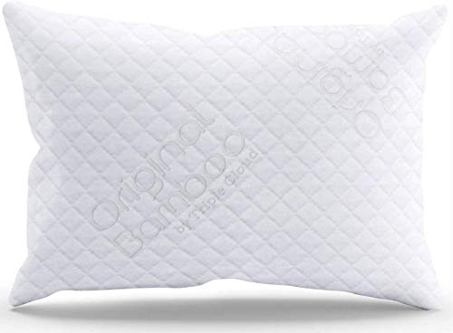Triple Cloud Pillows Luxury Premium Shredded Memory Foam Adjustable Loft Standard Pillow Removable Hypoallergenic Cover - Made in The USA