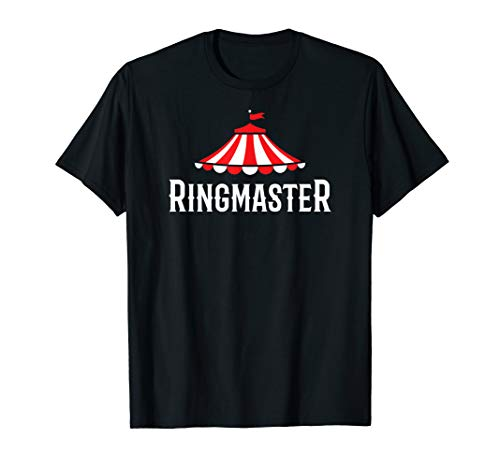 Ringmaster Costume T-shirt for Circus Theme Party]()