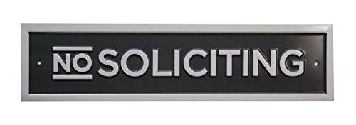Bold Border - NINI No Soliciting Sign, Bold Border (Charcoal + White)