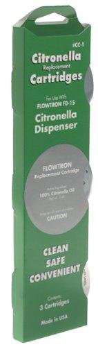 Flowtron CC-1 Replacement Cartridge for FD-15 Citronella Dispenser, 3-Pack