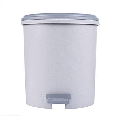 Plastic Foot-Operated Trash Can Office and Kitchen with Lid 6L/9.6L Plastic Trash Can, Waste Can (Color : Blue, Size : S-6L) ()