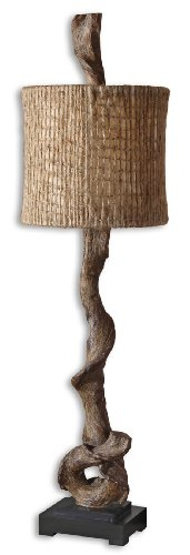 (Twisted Driftwood Rustic Table Lamp | Coastal Ranch Lodge)