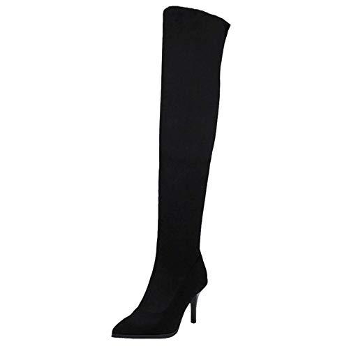 Bottes Boots À Femmes Cuissardes Talons Hauts Taoffen Noir qgx1RCw