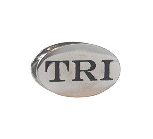 TRI Race Stainless Steel Triathlon Shoelace Charm-Perfect Triathlon Gift