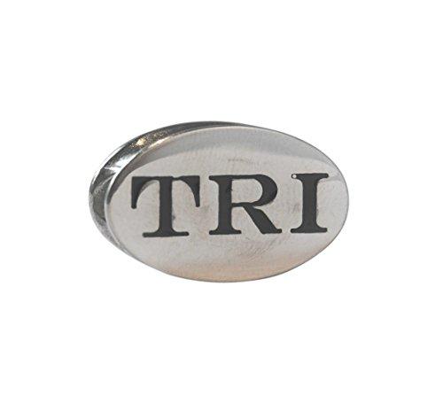 10k Race Charm - TRI Race Stainless Steel Triathlon Shoelace Charm-Perfect Triathlon Gift