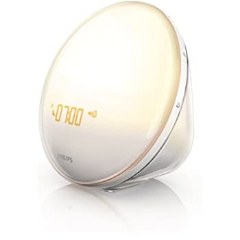 Image of Philips Wake-Up Light Alarm Clock with Colored Sunrise Simulation and Sunset Fading Night Light, White (HF3520) Home and Kitchen