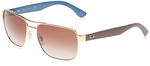 Ray-Ban Men's Rb3530 Metal Square Sunglasses