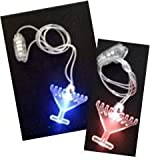 50 Hanukkah Glow in the Dark LED Menorah Necklace & Light Up Decoration for Chanukah Party
