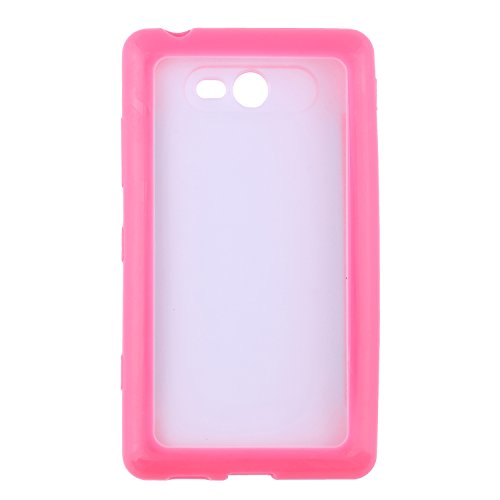 iCandy™ Ultra Slim Bumper Snap on TPU Back Cover with Free Screenguard for Nokia Lumia 820   Pink