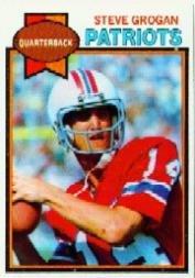1980 Topps Football Card #435 Steve Grogan