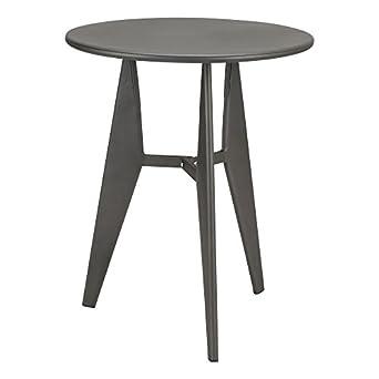 Fat Catalog ALT GNE 1006 SO Metal Modern Industrial Café Table, Gun