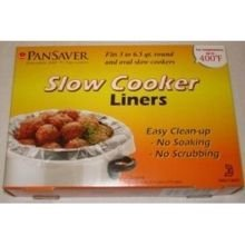 M and Q Packaging Corp PanSaver EZ Clean Master Slow Cooker Liner, 12 x 7 x 9 inch - 4 per pack - 18 packs per case.