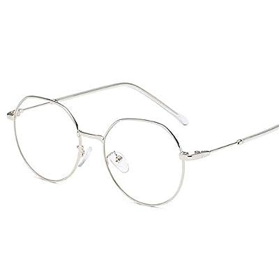 FeliciaJuan Adult Glasses Metal Polygon Lens General Computer Goggles Men and Women