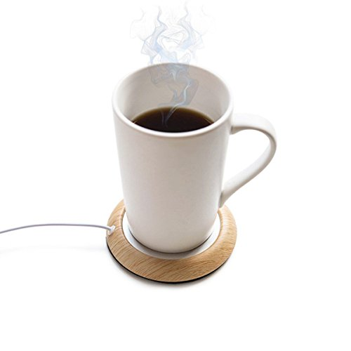 UniM Coffee Warmer USB Mug Warmer Beverage/Drink/Tea Warmer for Office/Home Use (Light Wood Grain)