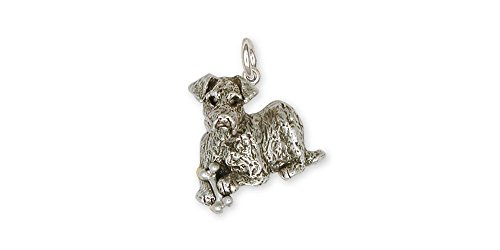 Airedale Terrier Jewelry Sterling Silver Airedale Terrier Charm Handmade Dog Jewelry AR1-C