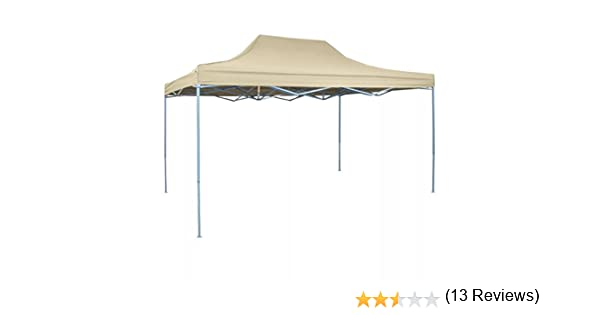 vidaXL Carpa de Fiesta Jardín Plegable Pop-up Acero Tela Crema 3x4,5m Cenador: Amazon.es: Hogar