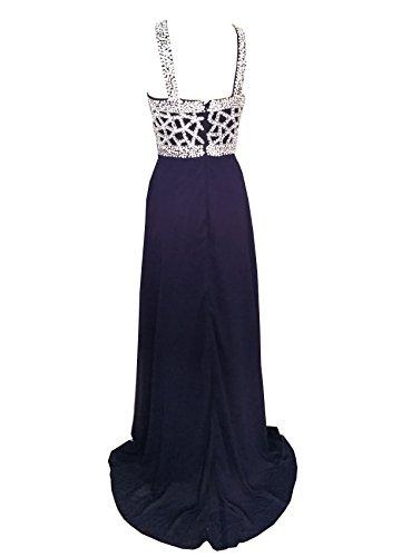 Perles 2017 Robes De Bal Longues Robes Licol De Soirée Noir Bleu Marine Fanciest Femmes