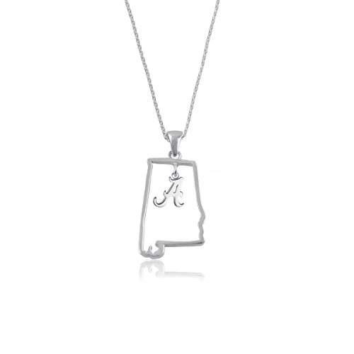 (University of Alabama Crimson Tide Sterling Silver Jewelry by Dayna Designs (State Outline)