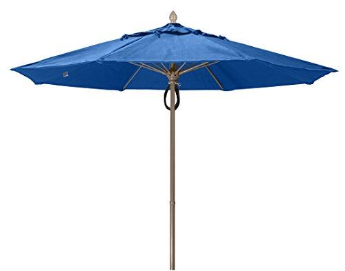 Umbrella Market Fiberbuilt (FiberBuilt Umbrellas 9MPPCB-8602 Market Umbrella, 9' Diameter Marine Grade Canopy, Pacific Blue)