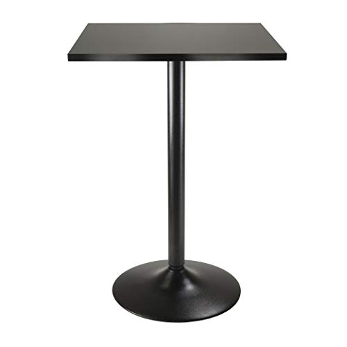 Winsome 20522 Obsidian Dining, Black (Black Bar Table)