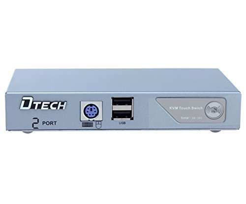 DTECH 2 Port VGA Switch with USB 2.0 and PS2 KVM Switcher (Control 2 PCs with just one Keyboard, Mouse, Monitor ) Supports Widescreen Display and up to 2048x1536 Resolution by DTech (Image #6)