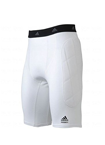 Adidas adiLegacy Adult Sliding Short - White Large (Sliding Softball Shorts)