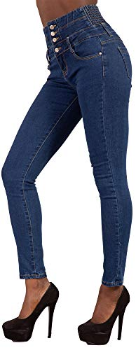 Skinny Fit Stretch LustyChic Women Slim Waist Comfy Jeans 6 Size Blue White Ladies High 14 Trousers Blue Black SqqBCInHw