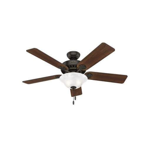 "Hunter 53041 Hunter Buchanan Ceiling Fan with Light, 52"", Pr"