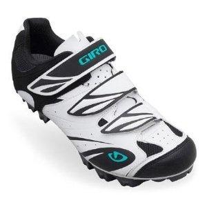 Giro GF23140 Womens Reila Dirt Bike Shoes, Wht/Blk/Dynasty Green - 36