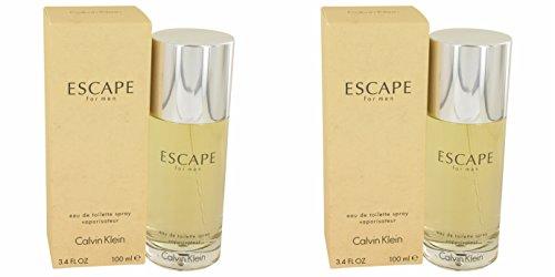 Cålvin Kléin Escápe Cologné For Men 3.4 oz Eau De Toilette Spray (2PCS) + a Free ()