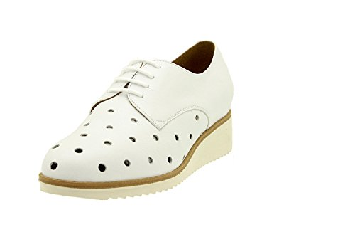 Wide Comfort Leather Lace Shoe PieSanto Shoes White Woman Removable 8631 Insole Comfort vwExAzS