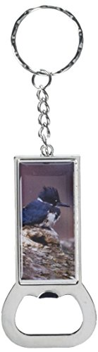 - Graphics and More Ring Bottlecap Opener Key Chain, Belted Kingfisher - Bird (KK1756)