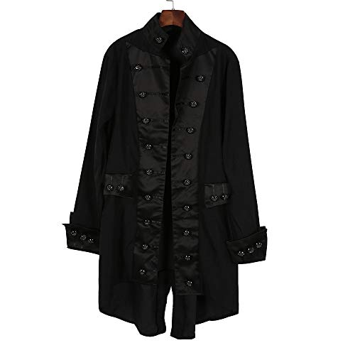 (Dressin Men's Coat Fashion Winter Warm Casual Vintage Tailcoat Overcoat Outwear Steampunk Victorian Frock)