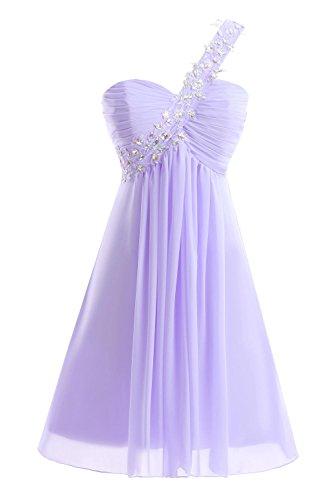Prom Lilac Homecoming One Short Women Dresses Dora Beaded amp;Acute;s Bridal Shoulder qaWxPH