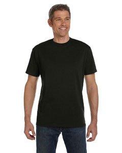 ECOnscious Men's 100% Organic Cotton Short Sleeve Tee (Black, Medium)
