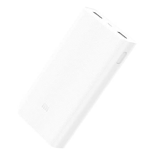 chollos oferta descuentos barato Xiaomi 20000 2C Batería Externa 20000 mAh Ión de Litio Universal ABS PVC Rectángulo Blanco