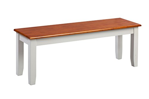 (Bench, Multiple Colors, Shaker-Style Cherry Bench, Sold Individually, Standard Height, Legs and Apron are Constructed of Solid Hardwood, Seat is Constructed of Medium Density Fiberboard)