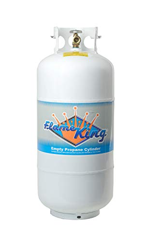Flame King 40 lb Steel Propane Cylinder with Type 1 Overflow Protection Device Valve