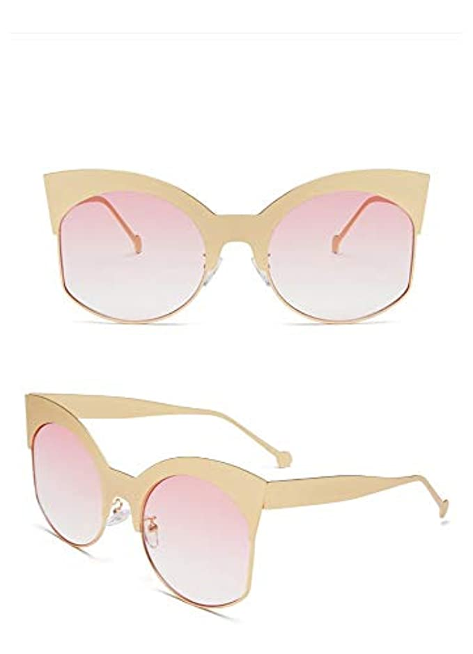 Donna Shooting Sunglasses Occhiali Street Jhinne Tide Da New Fashion Decorative Metal Uniti Sole E Eyes Stati Cat Glasses Europa