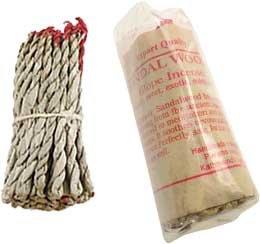 - Sandalwood tibetan rope incense *